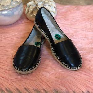ALDO Black Espadrille Loafers Size 8
